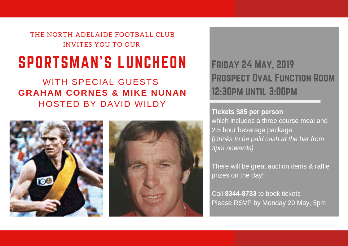 5460a39f Sportsman's Luncheon with Graham Cornes & Mike Nunan